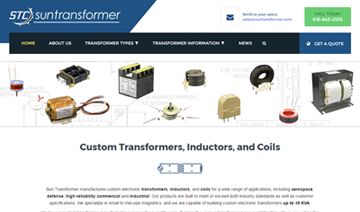 Sun Transformer Website Graphic