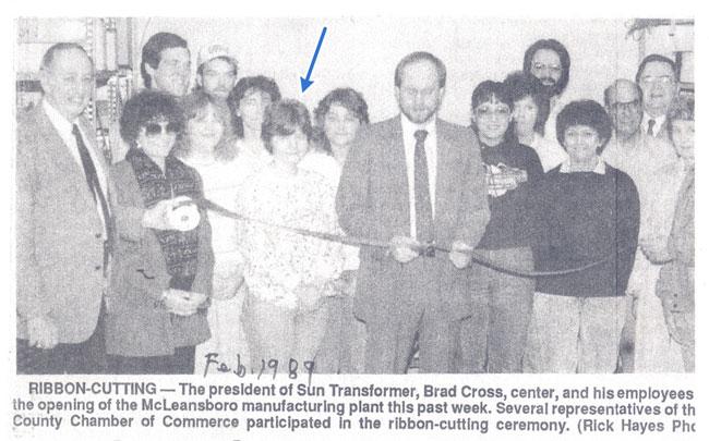 STC Ribbon Cutting - 1989
