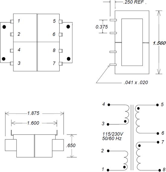 LPC 2.5VA Transformer Schematic