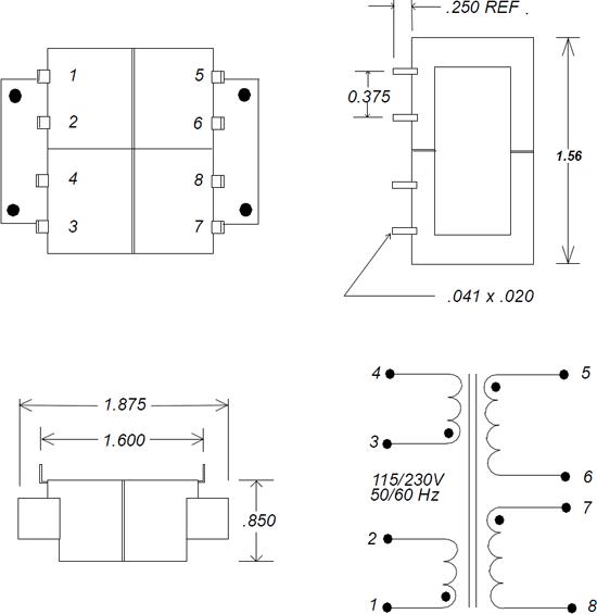 LPC 6VA Transformer Schematic