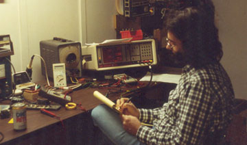 Les Vaughn at Work Designing a Transformer